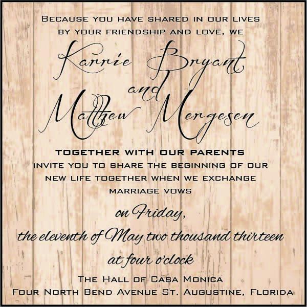 Rustic Wood Grain Wedding\/Engagement Invitation   Digital Copy   Engagement  Invitation Format  Engagement Invitation Format