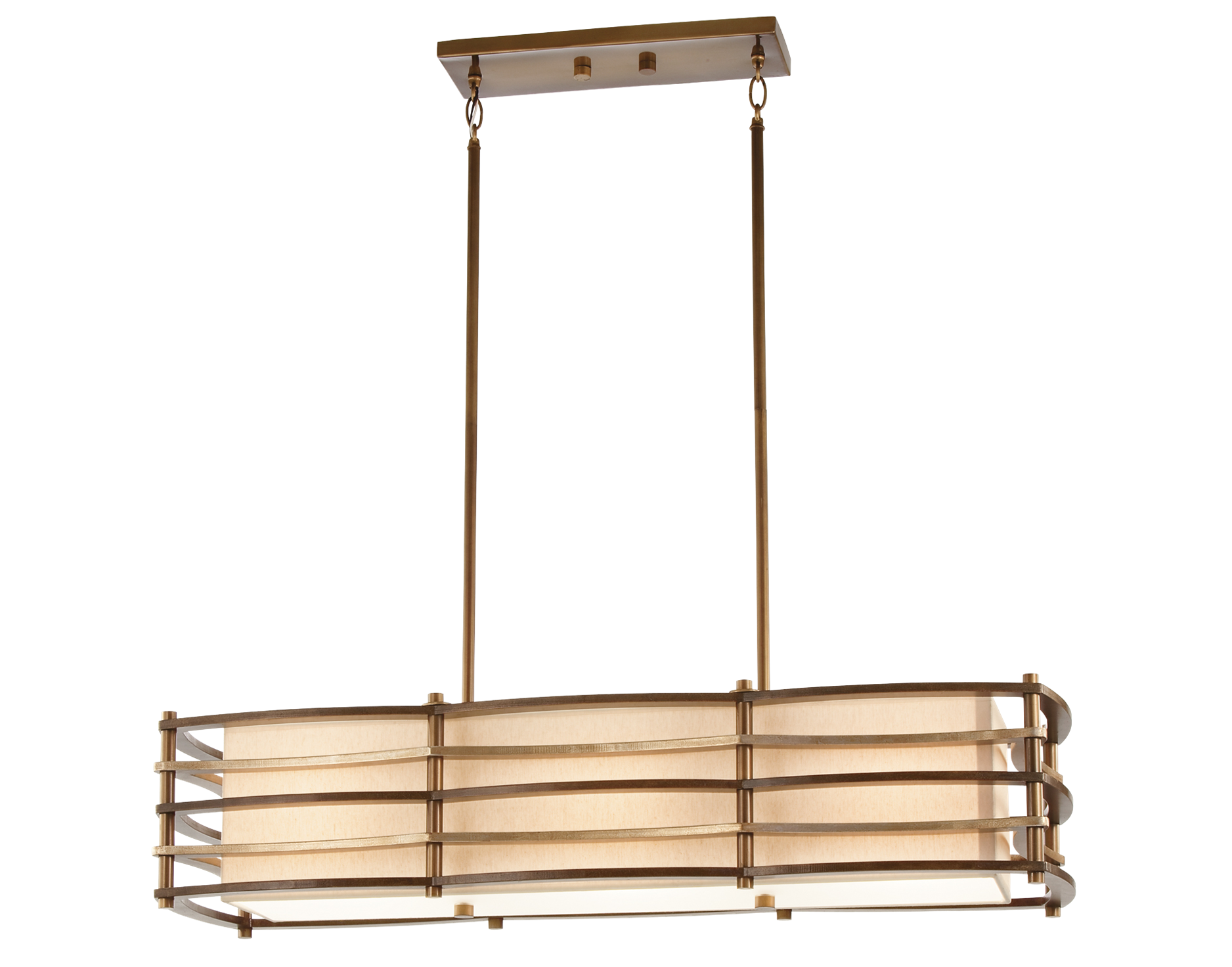 Moxie Collection 3 light Linear Chandelier in Cambridge Bronze
