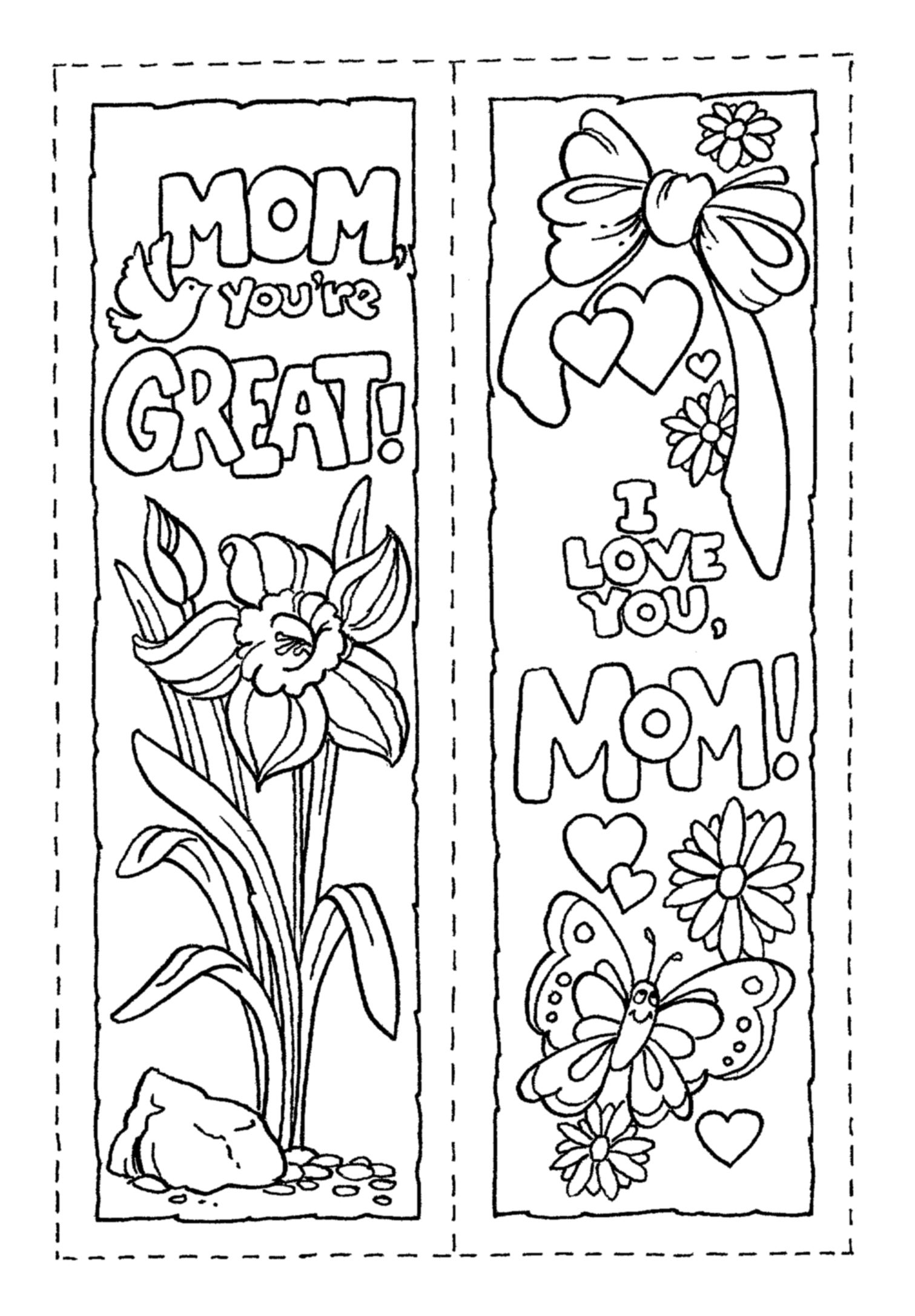 Mother S Day Bookmarks Mothers Day Coloring Pages Mother S Day