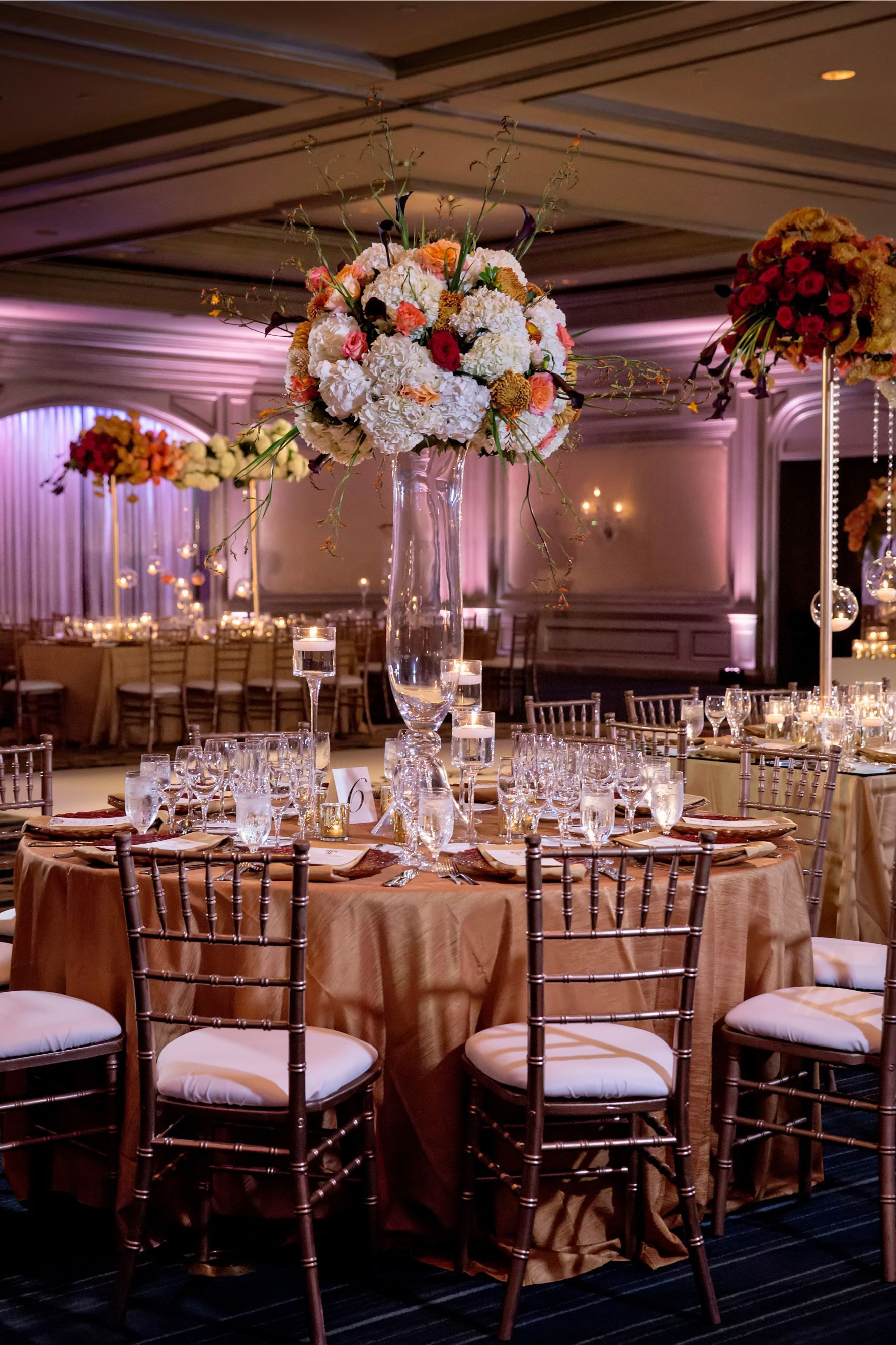 This fall wedding was a colorful dream! The sunset color