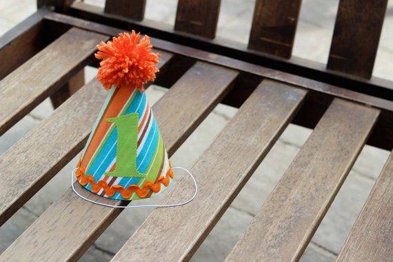 Custom Birthday Hat First Birthday Party by LittleStitchinLu, $15.50