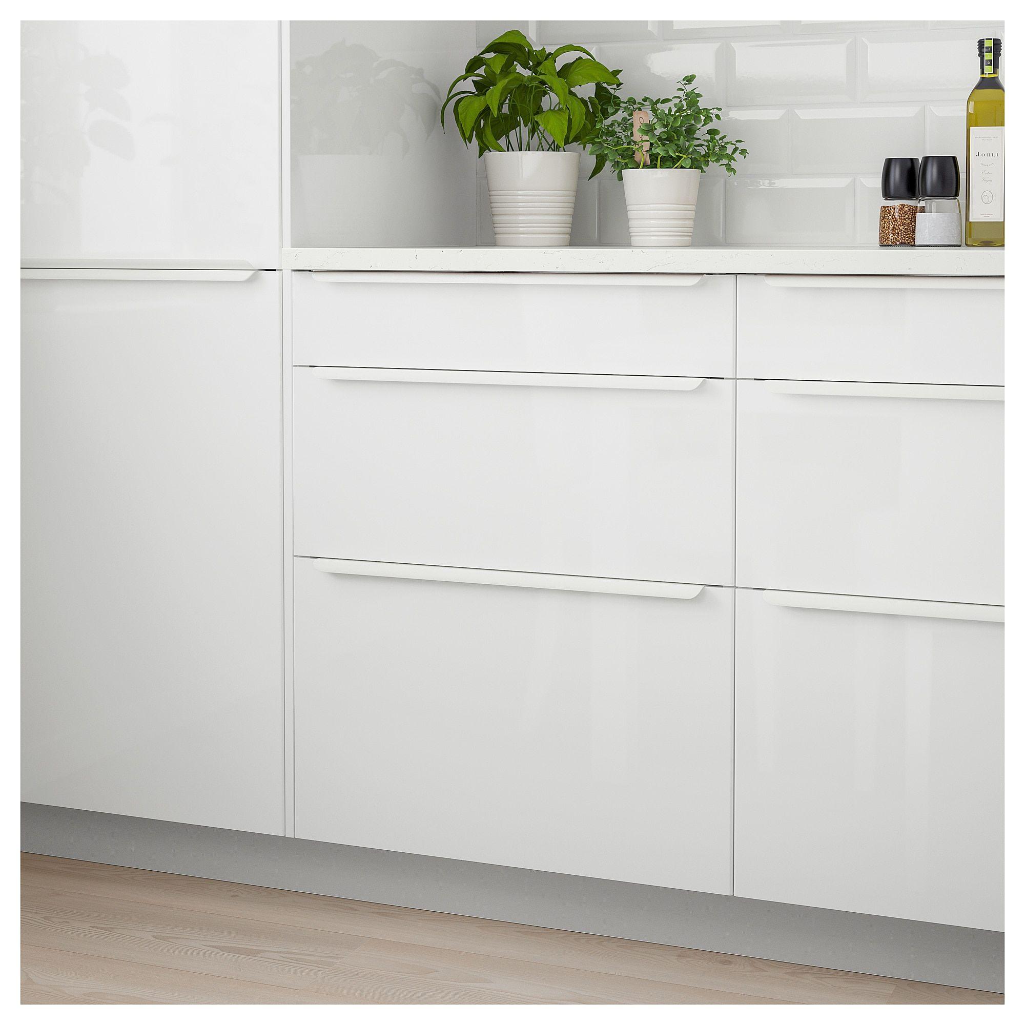 "RINGHULT Drawer front - high gloss white 15x5 "" (38x13 cm ..."