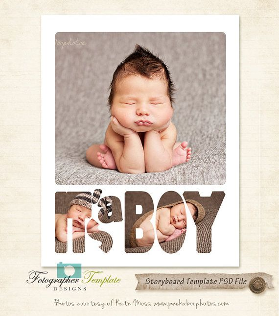 11x14 Storyboard Template Newborn Baby Boy par - photography storyboard template