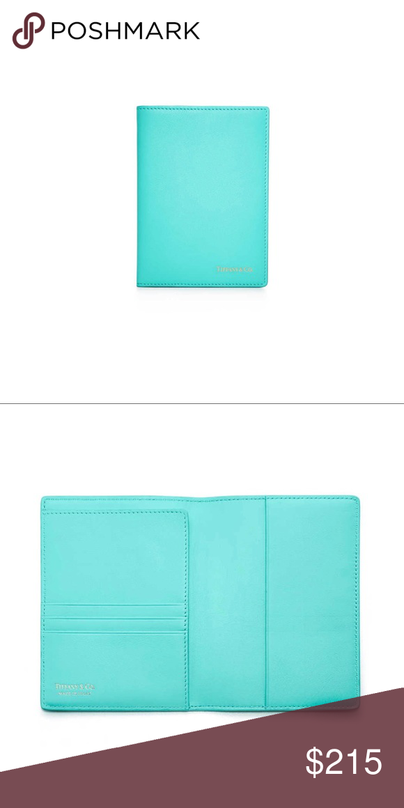 more photos 04720 e2762 Tiffany & Co Blue Smooth Leather Passport Cover Tiffany & Co Blue ...