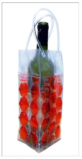 Cool Sack Wine Totes - Red 4 Sided Gel Filled Red $7.95