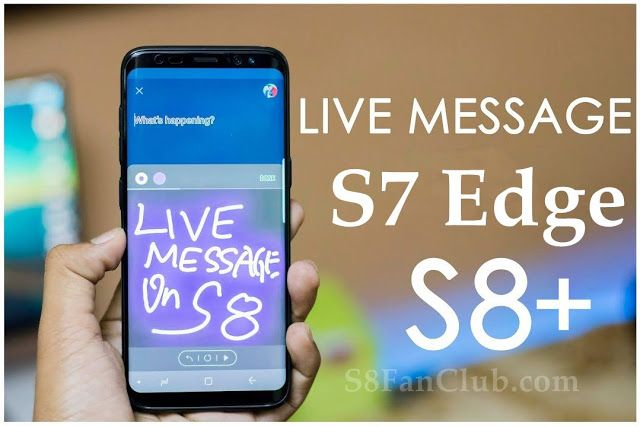 Install Note 8 Live Message APK on Samsung Galaxy S7 Edge