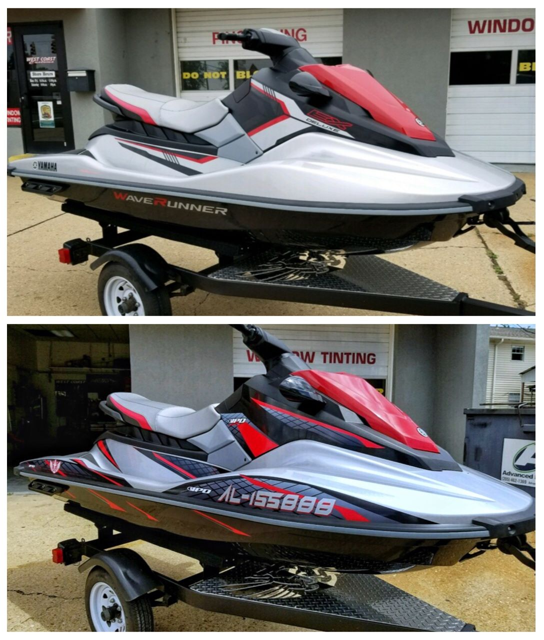 2017 Yamaha Ex Deluxe With Idp Graphics Kit Before And After Jet Ski Baby Strollers Skiing