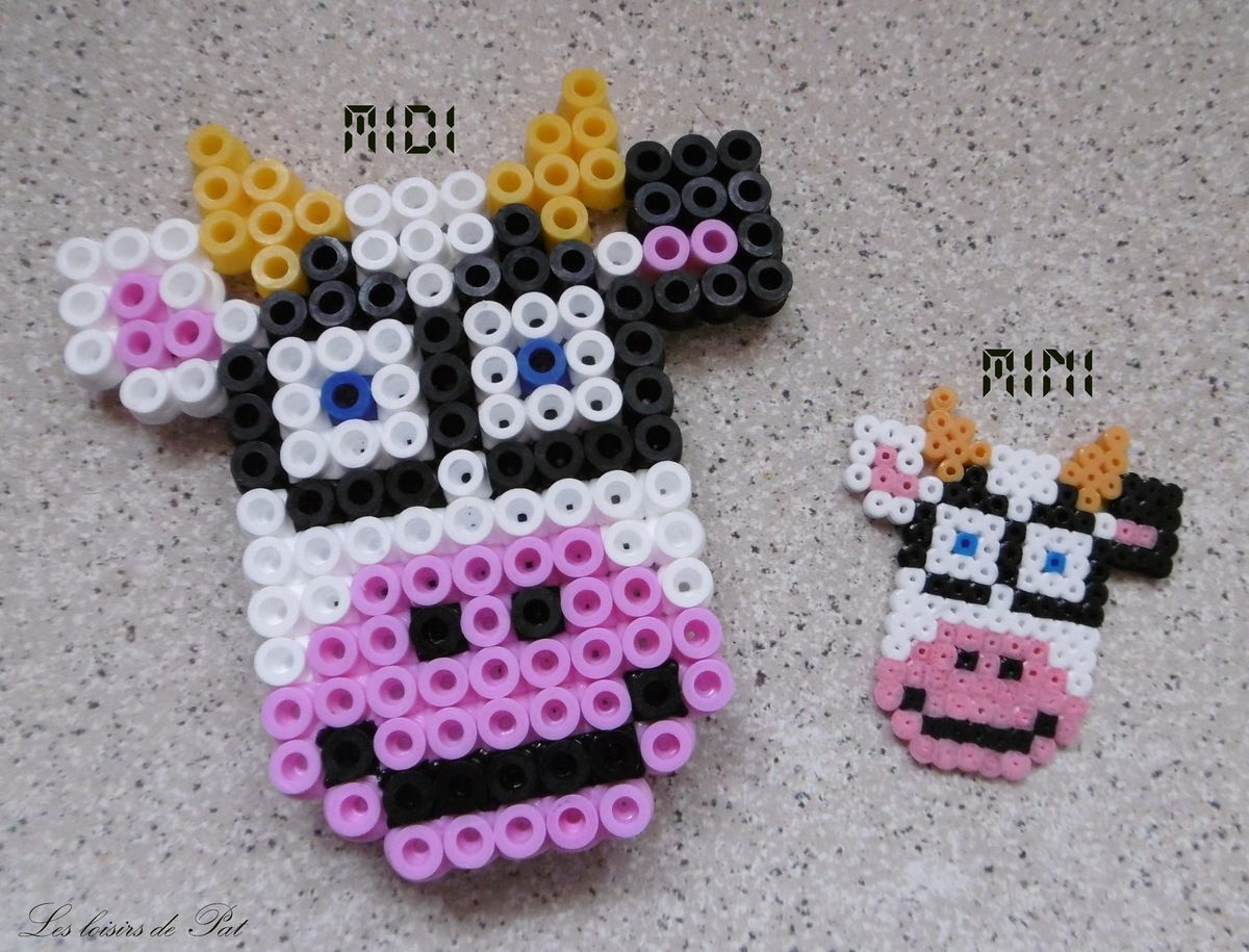 perle hama t te vache kandi pinterest kandi perler beads and beads. Black Bedroom Furniture Sets. Home Design Ideas