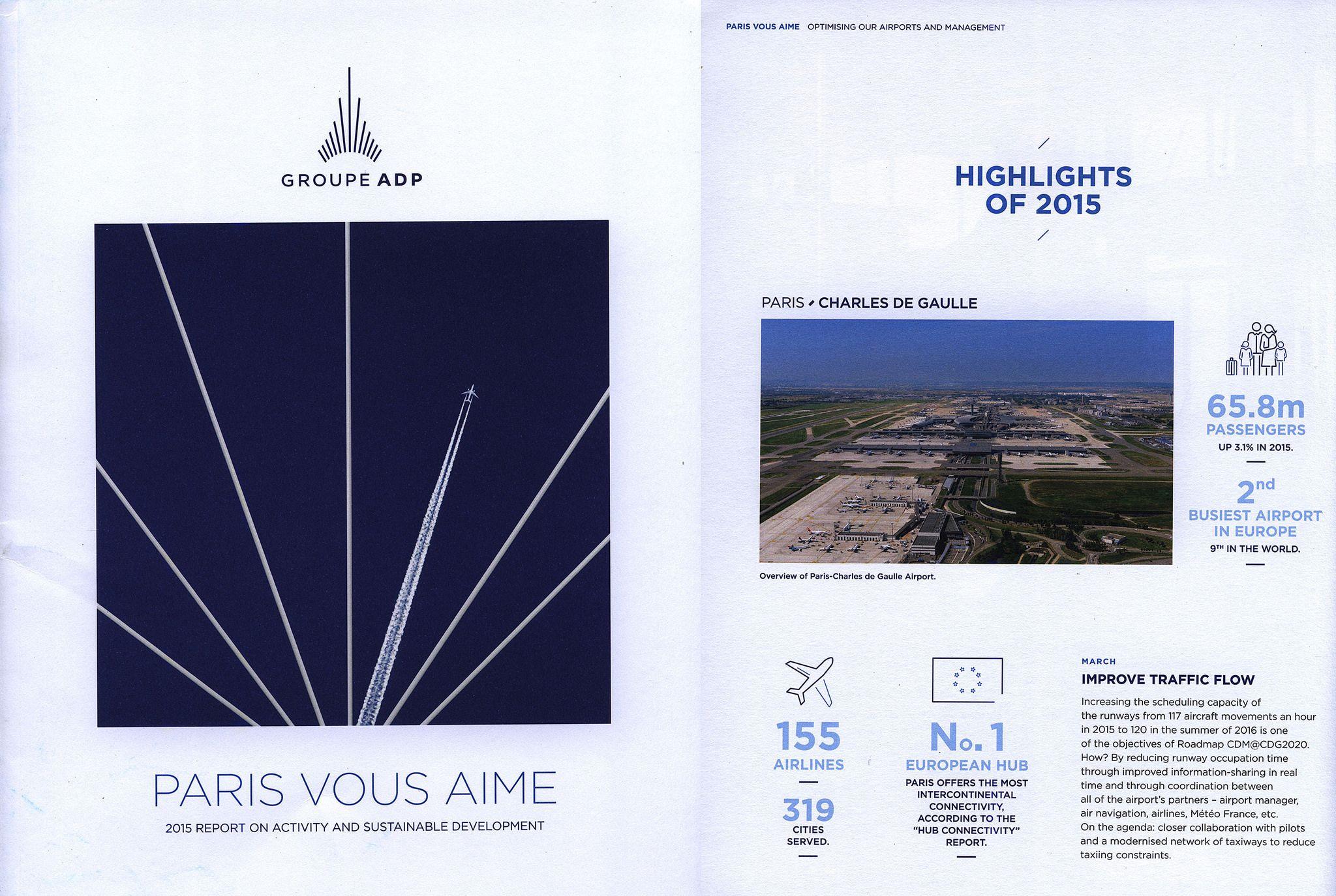 https://flic.kr/p/NuDrCt | Paris Airports ADP - Paris Vous Aime 2015 Report on Activity and Sustainable development; 2016, France