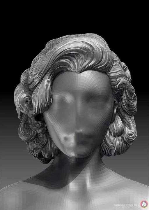 Zbrush sculpting 1x blocking hair youtube.