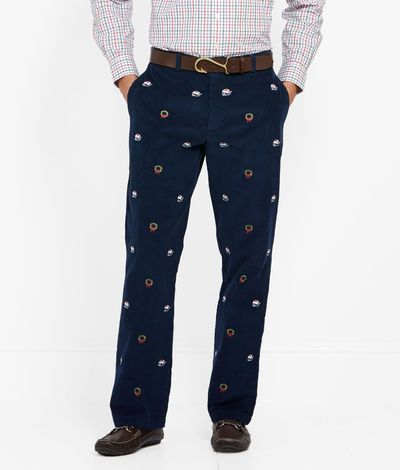 Mens Holiday Pants: Lighthouse and Wreath Corduroy Pants for Men ...