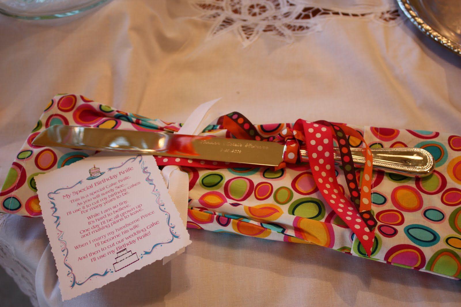 Birthday Knife With Poem