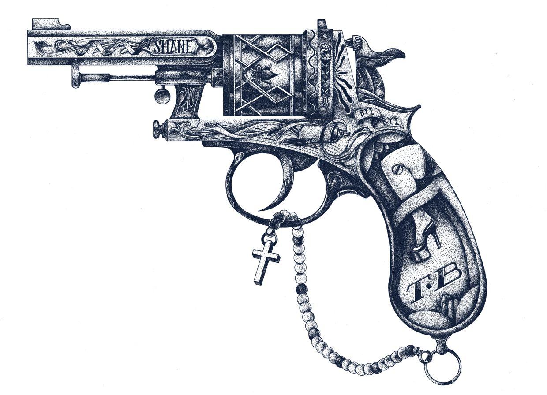 Pistoleta tat pinterest tatouages tatouages femme et pistolet - Tatouage pistolet femme ...