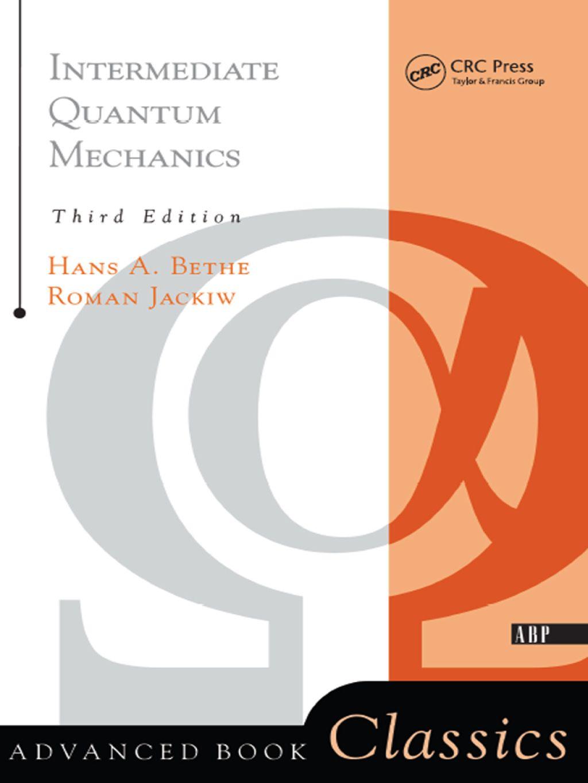 Intermediate Quantum Mechanics Ebook Rental In