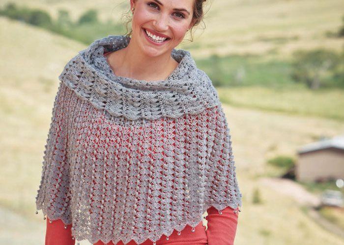 Free Crochet Patterns You\'ll Love Crocheting | Ponchos, Chal y Capilla