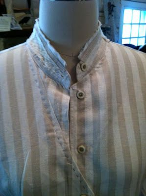 one of Diane Tilton's shirts, refashioned from a thrifted RTW shirt - a man's shirt