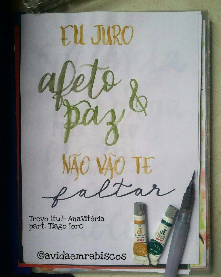 Lettering Trevo (tu)- Anavitoria Feat. Tiago Iorc