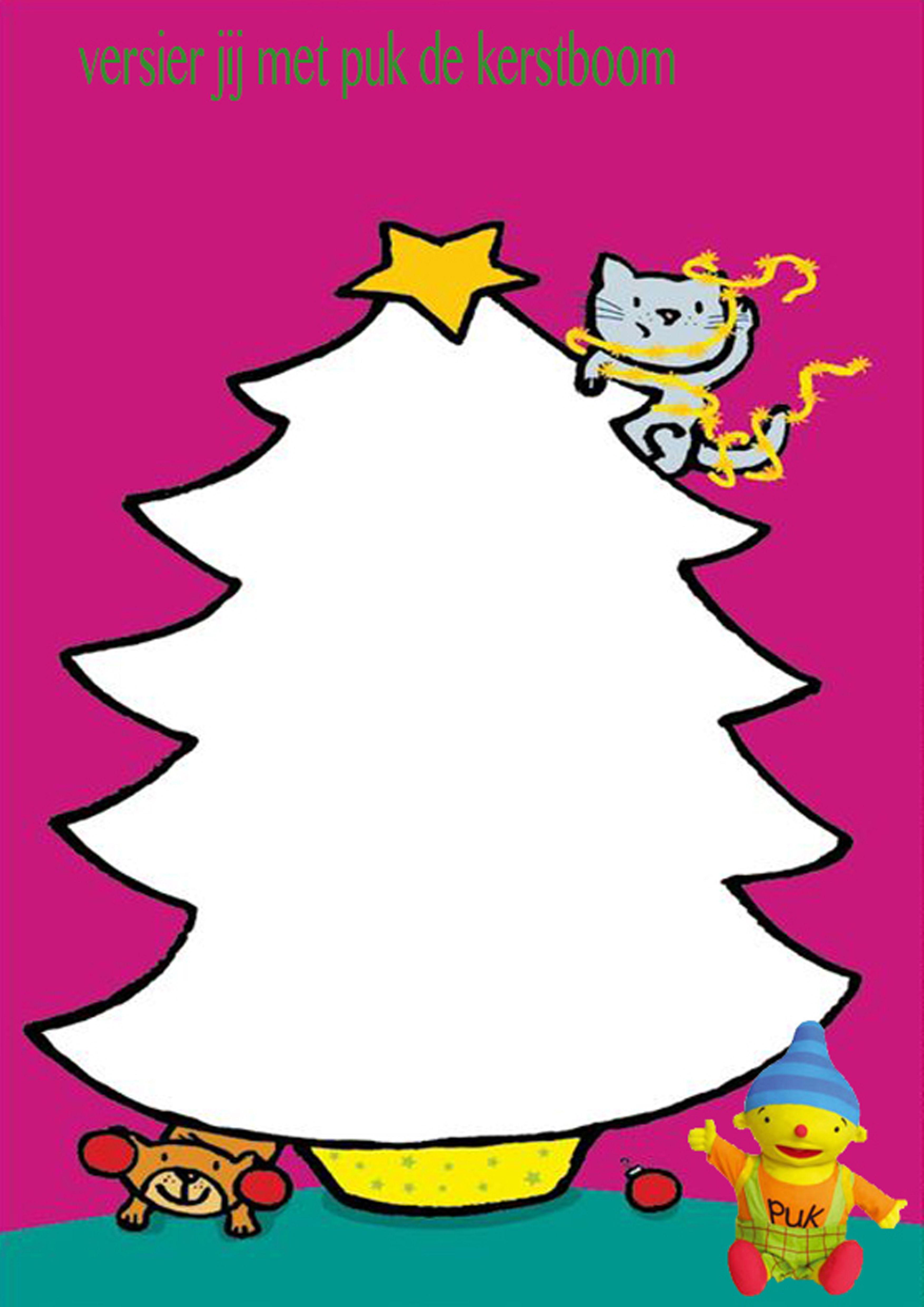 laat de peuters de kerstboom versieren met klei knutsels