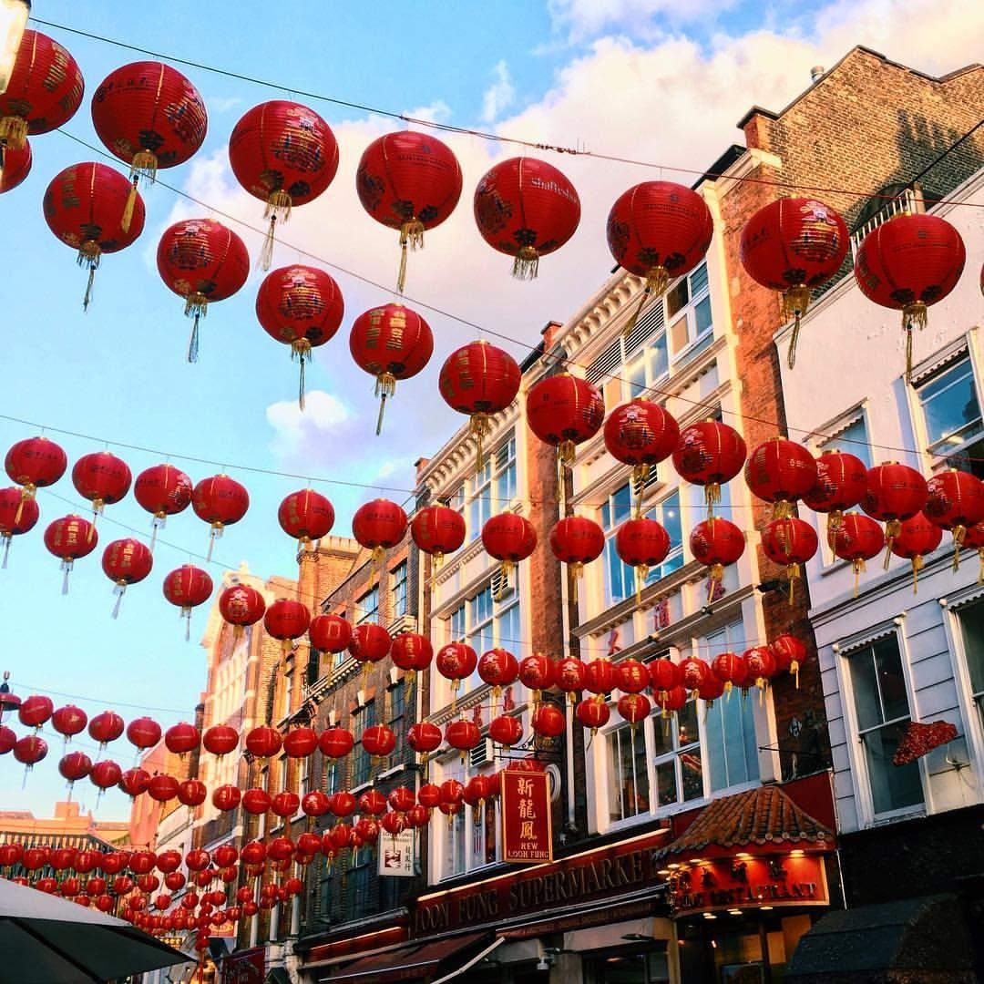 CHINA TOWN lanterns ChineseNewYear london aesthetic