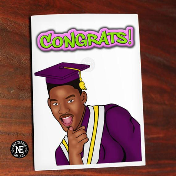 Fresh Graduation Card 90u0027s TV - Congratulations Oldschool Card! - A6 - fresh 187 invitation lyrics lord infamous