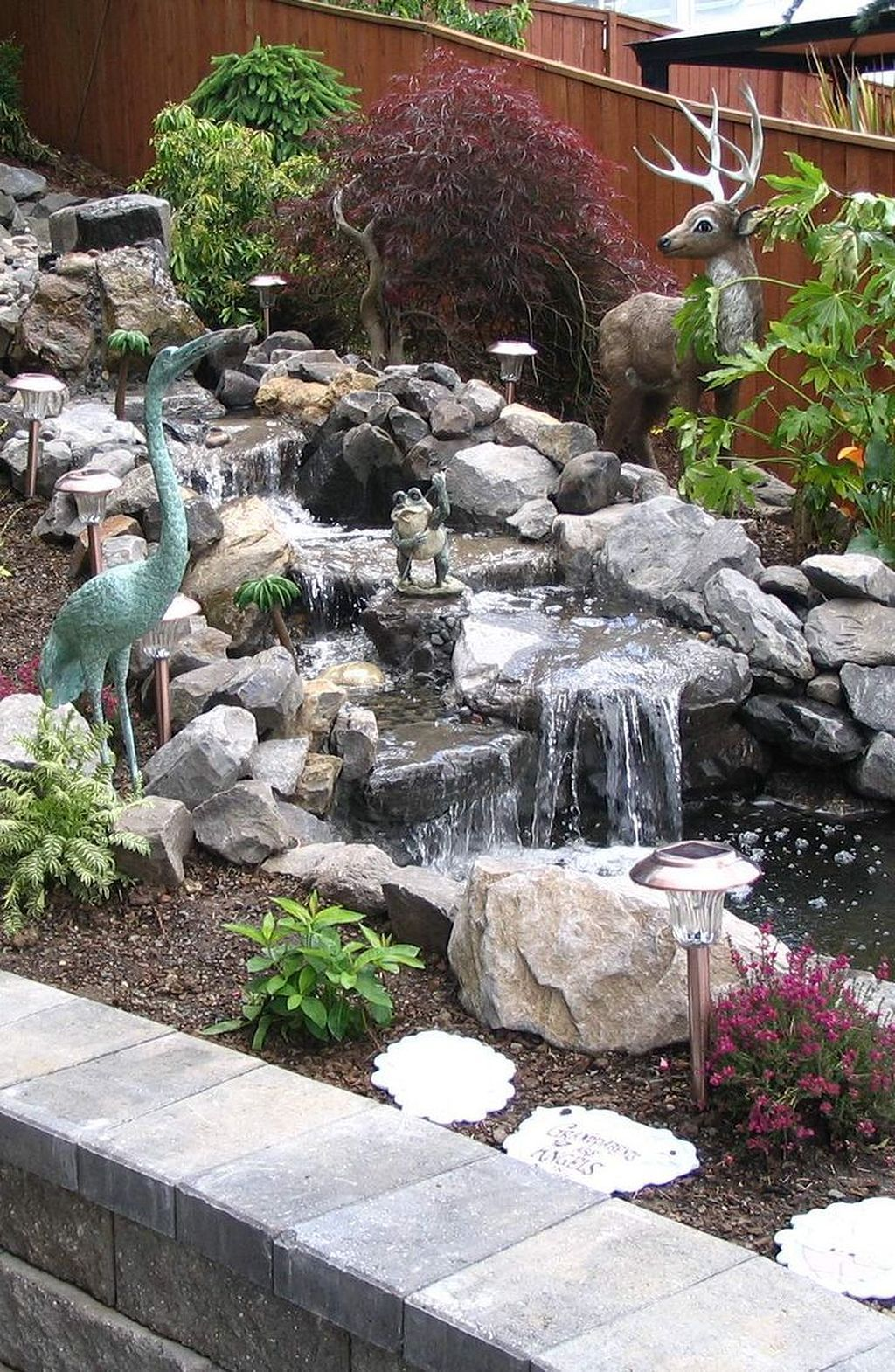 Landscaping ideas Small Backyard Waterfall For