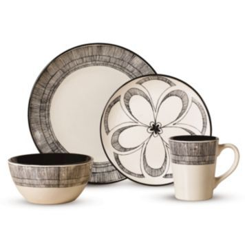 This Pfaltzgraff Everyday Gramercy Dinnerware Set features white stoneware pieces adorned with sketch line floral medallion patterns that command set ...  sc 1 st  Pinterest & Pfaltzgraff Gramercy 16-pc. Dinnerware Set/ | Home Dreams ...
