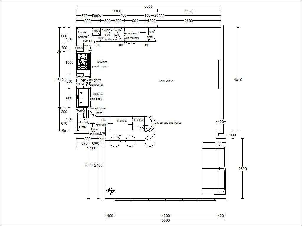 Kitchen Peninsula Design Plans Proper Peninsula Kitchen Floor Plan Architectural