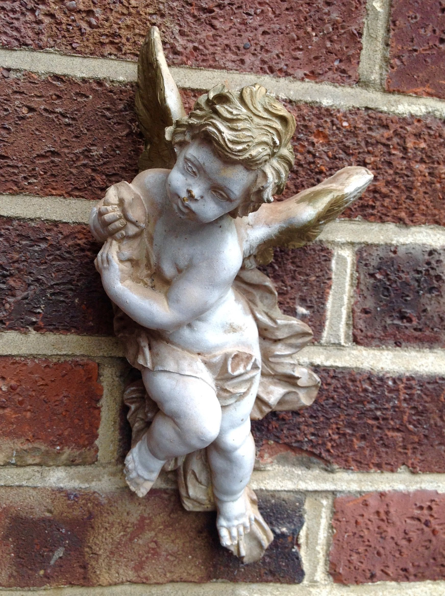 Charming decorative plaster Putti. Sold | Decorative ...