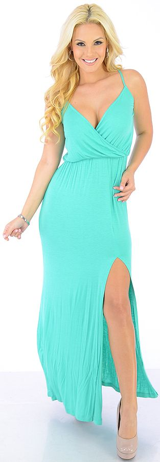 Natural Beauty (Teal)-Great Glam is the web's best online shop for trendy club styles, fashionable party dresses and dress wear, super hot clubbing clothing, stylish going out shirts, partying clothes, super cute and sexy club fashions, halter and tube to