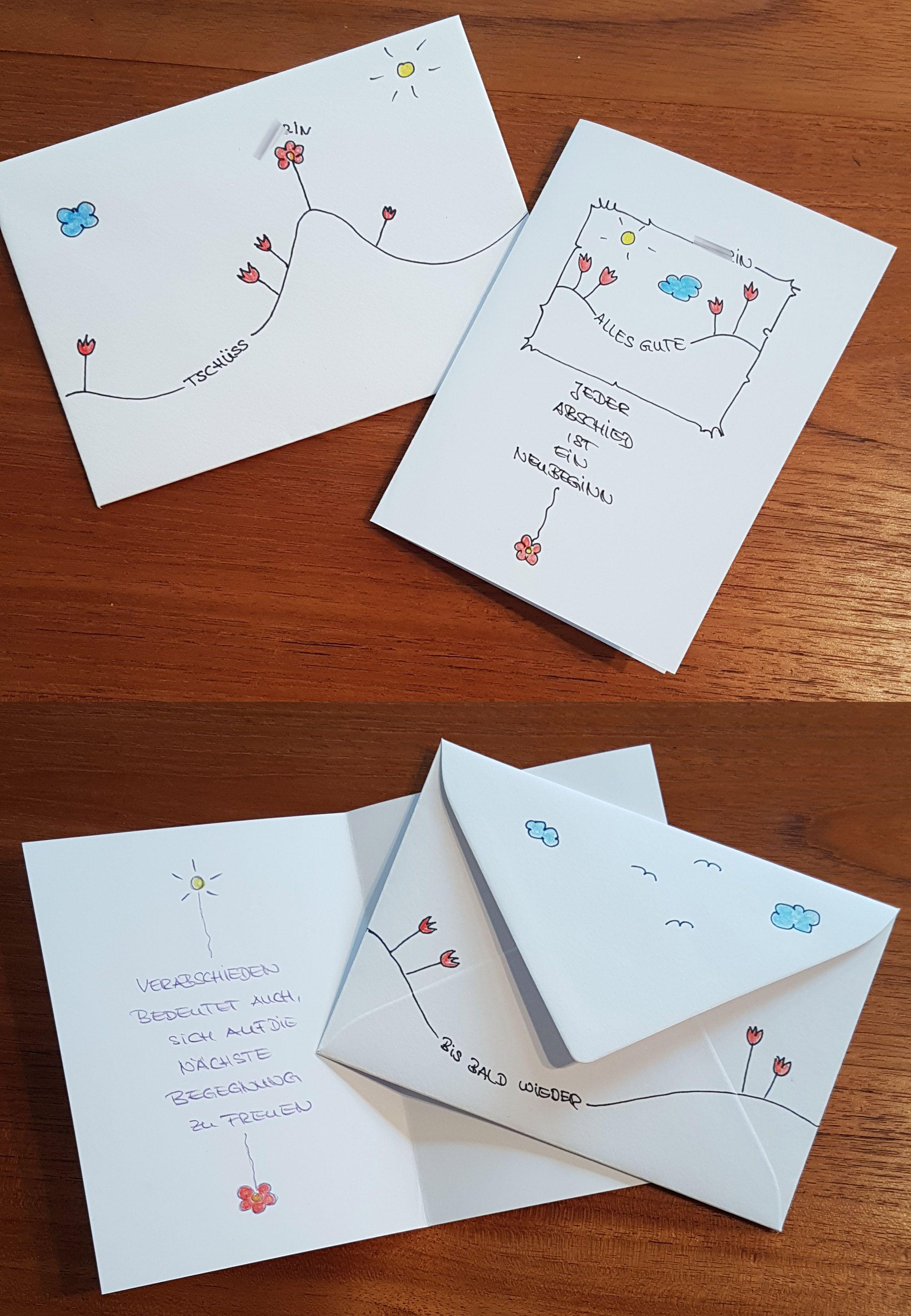 karte zum abschied einer kollegin diy cartas despedida pinterest abschied karten und. Black Bedroom Furniture Sets. Home Design Ideas