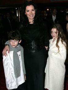 Nigella Lawson and her children. Great looking family.