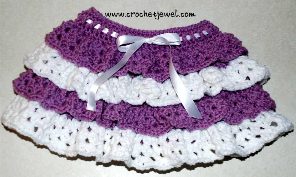Crochet Ruffle Skirt (Girls size 2, 4) Abbreviations: dc=double ...