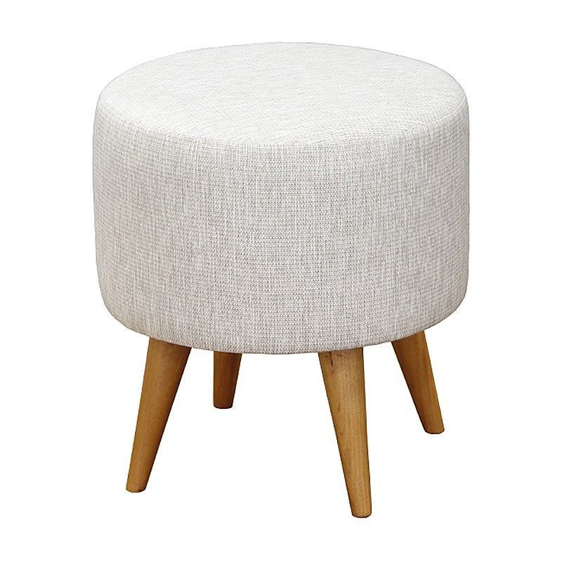 Groovy Oxley Commercial Grade Cotton Fabric Round Ottoman Stool Uwap Interior Chair Design Uwaporg