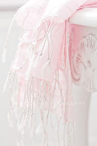 pastel pink scarf