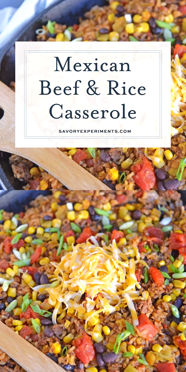 Photo of Mexican Beef and Rice Casserole – Dinner Idea