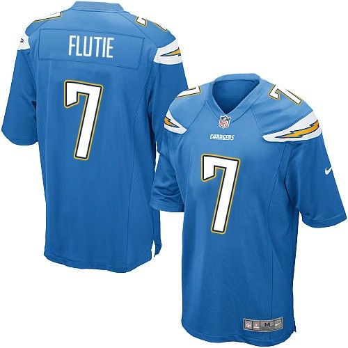 Nike Game Doug Flutie Electric Blue Men's Jersey - Los Angeles Chargers #7 NFL Alternate