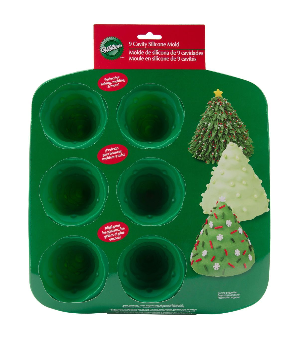 Silicone Mold 9 Cavity 3d Tree Christmas Tree Cake