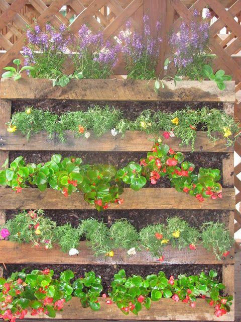 Pallet Craft Ideas Pinterest Jardín, Jardinería y Jardinería - como hacer una jardinera