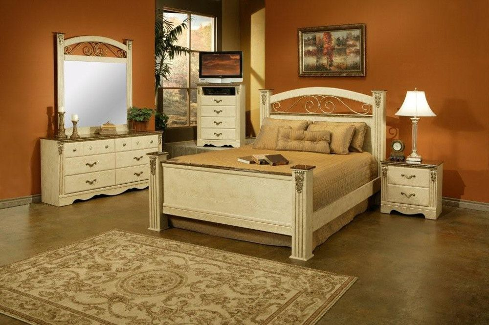 Oak Queen Bedroom Set at Famsa.us | Easy Credit | FAMSA | Online ...