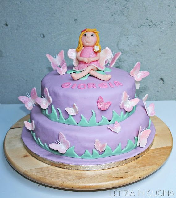 Letizia in Cucina: Torta Fatina e Farfalle | Torte decorate - Cake ...