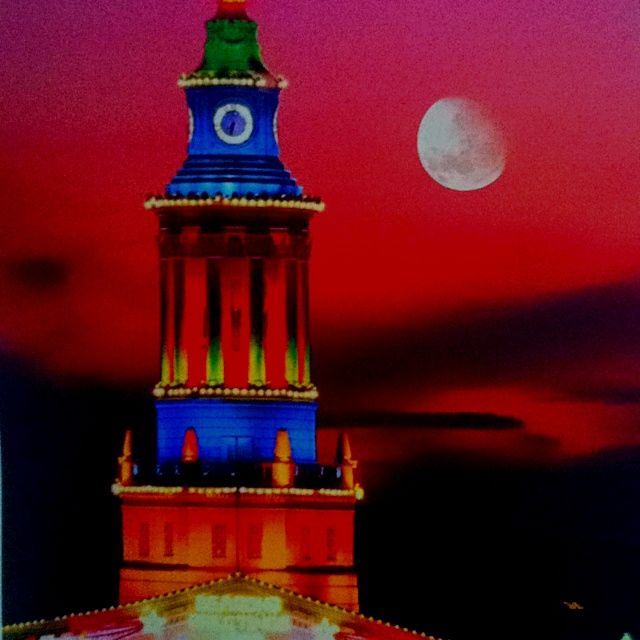 denver clock tower | Lighting turns the clock tower of Denver's city and county building ...