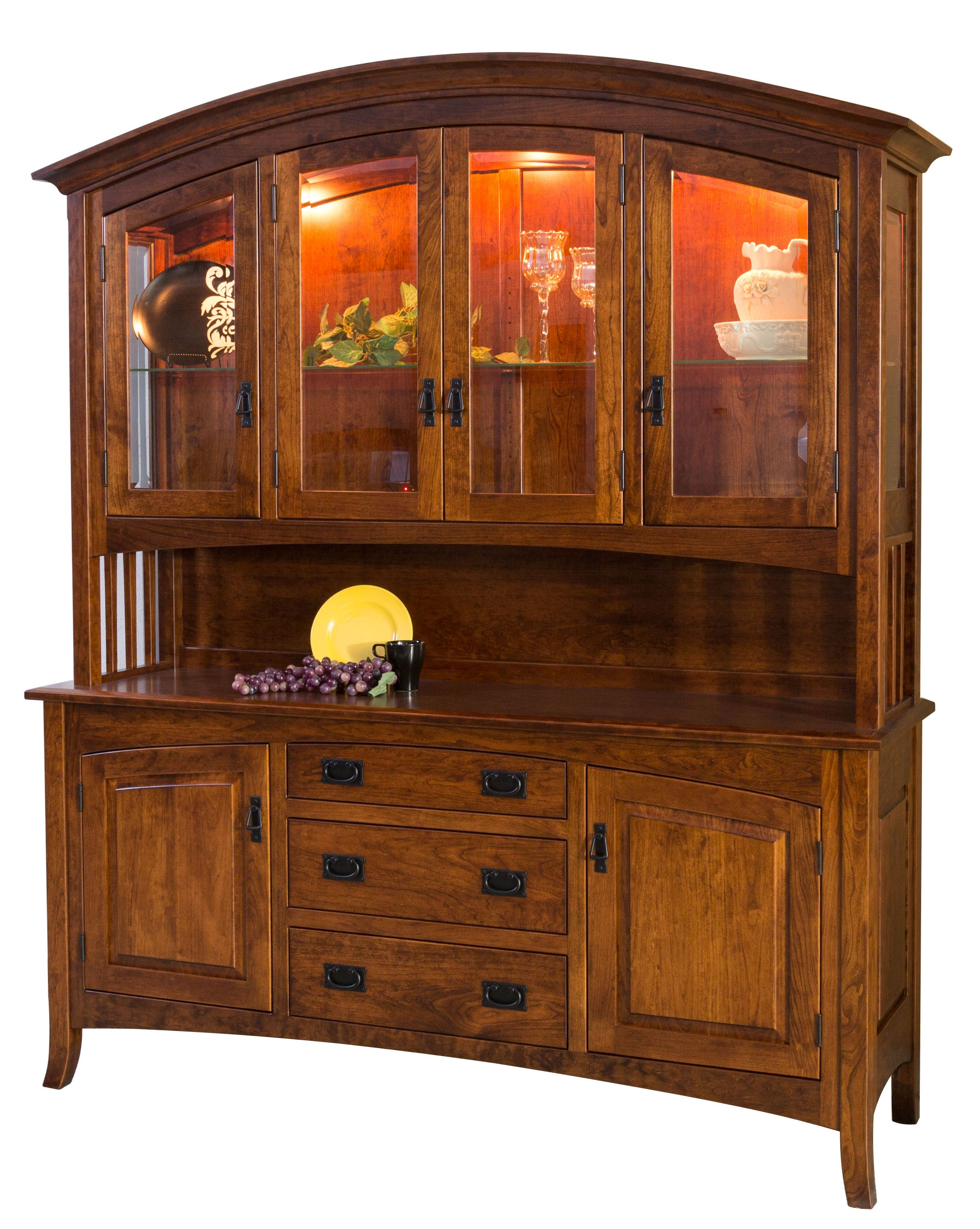 The Cambria Hutch Is Shown In Cherry With A Michaels Stain Dining Room