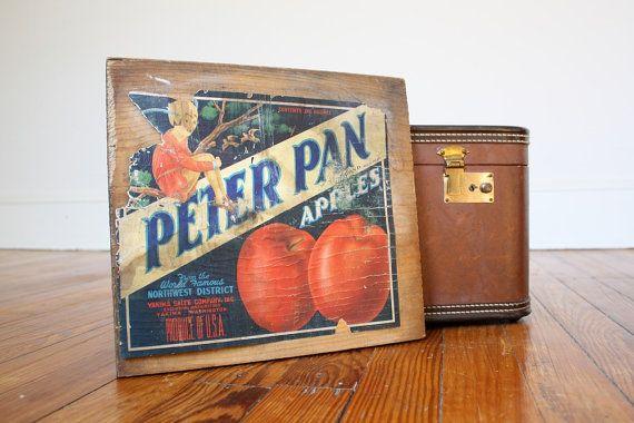 Salvaged Vintage Wooden Fruit Crate