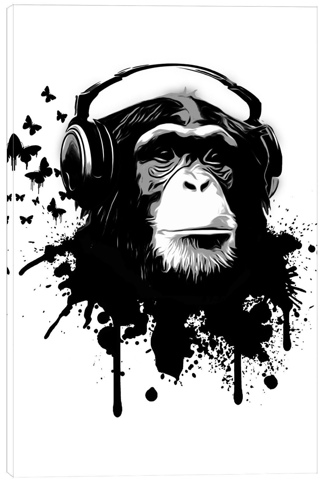 Monkey Business by Nicklas Gustafsson Graphic Art on Canvas