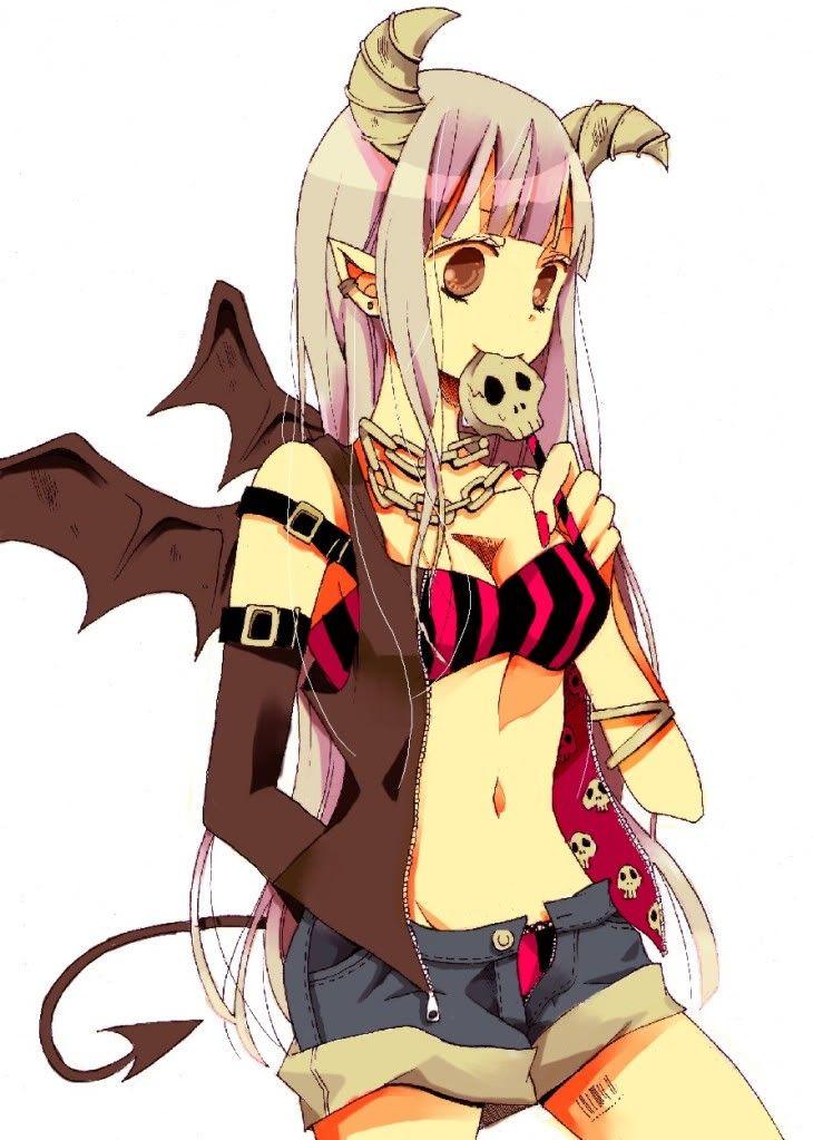 ANIME ART Devil Bat Wings Tail