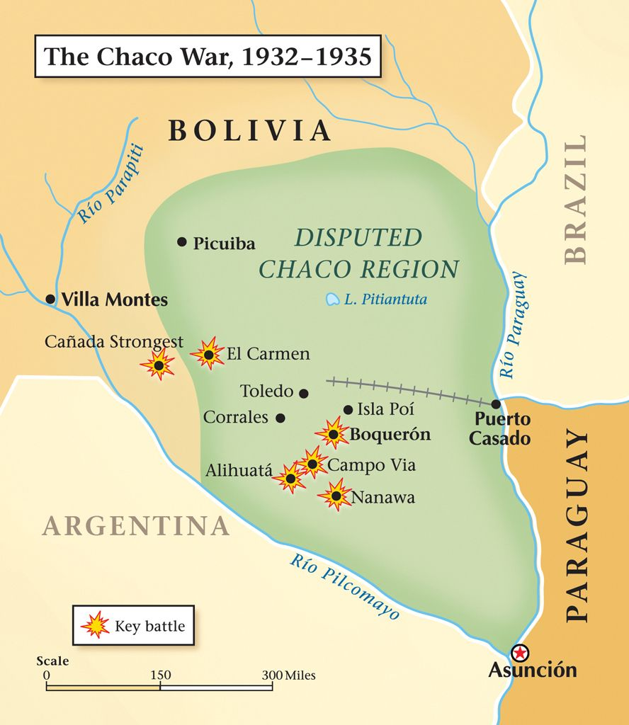 Map Of The Disputed Chaco Region. Created To Illustrate