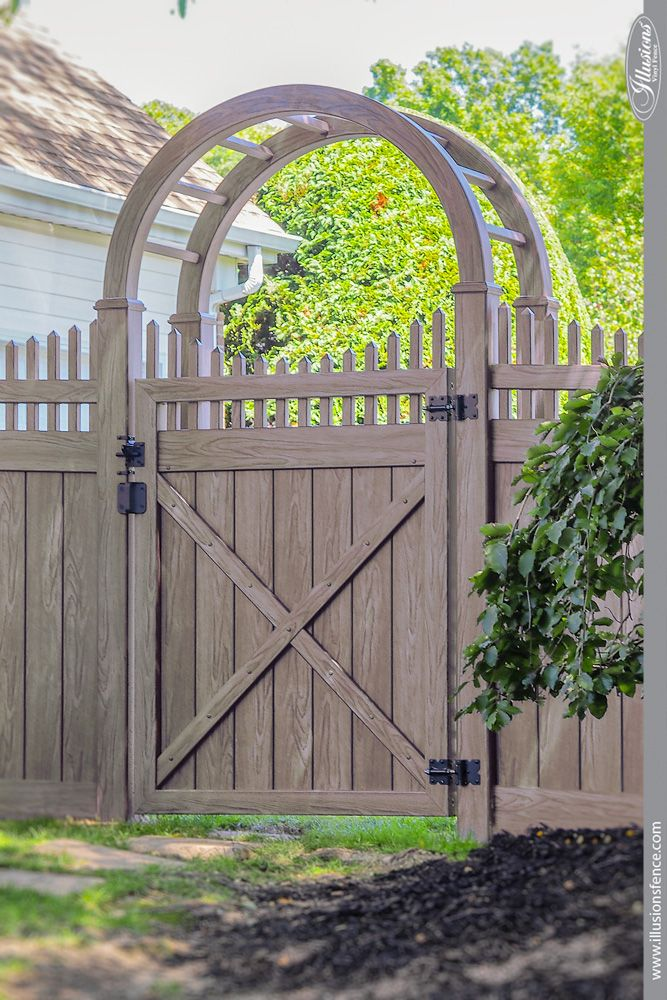 Illusions Pvc Vinyl Fence Photo Gallery Wood Arbor And