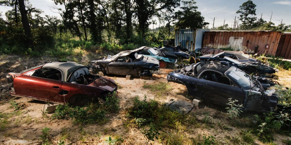 A Photographic Journey Through Texas S Secret Porsche Boxster Graveyard Porsche Boxster Porsche Boxster