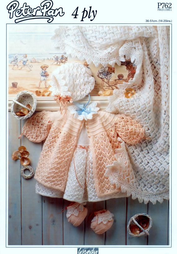2a44d160f Vintage PDF Baby Knitting Pattern Peter Pan 762 by 1vintagescot ...