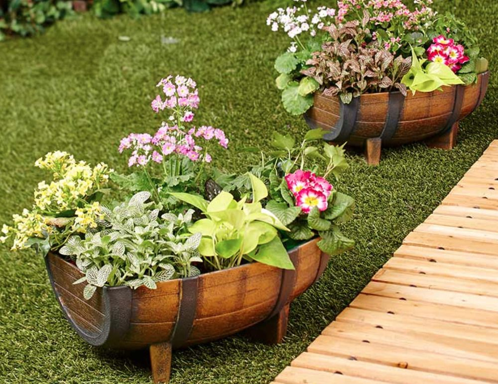 Larger Opening For Planting Pots With Half Barrel Design They